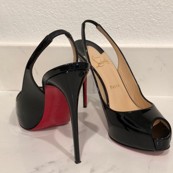 a6aa6914410 Christian Louboutin Private Number Peep Toe Pump